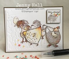 Traveling Chicks card with video made with Hey Chick for Int'l Stampin Up Blog Highlight :: Jenny Hall