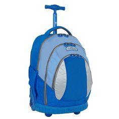 J World Kid's Ergonomic Sky Blue 17-inch Rolling Backpack | Overstock.com Shopping - The Best Deals on Backpacks