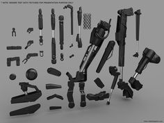 Hydraulics and Smaller Joints. OBJ, NO UVS, NO TEXTURES — Vitaly Bulgarov