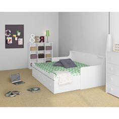ikea hemnes tagesbett umbau via wohnpotpourri stuva kinderzimmer pinterest ikea hemnes. Black Bedroom Furniture Sets. Home Design Ideas