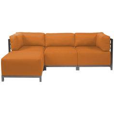 Howard Elliott Sterling Canyon Axis Corner Chair - Titanium Frame K921T-229