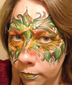 Leaf Mask Linda Schrenk/Amazing Face Painting by Linda, Jacksonville FL