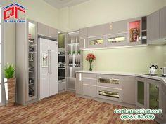 Mẫu tủ bếp đẹp thiết kế tiện nghi, hiện đại PTM21