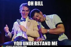 Bill Nye and Neil deGrasse Tyson. A bromance for the ages.