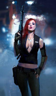 dieselpunk character by TheRollingMan on DeviantArt Cyberpunk Girl, Cyberpunk Character, Cyberpunk 2077, Female Character Design, Character Art, Science Fiction, Sci Fi Characters, Sci Fi Art, Character Inspiration