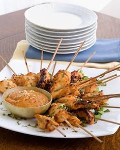 Satay Chicken Skewers #appetizers