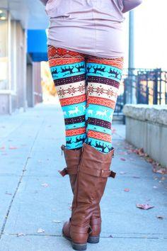 Nordic Print Sweater Leggings