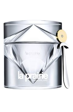 """La Prairie Cellular Cream Platinum Rare    A new product just launched by La Prairie - Platinum infused face cream.  """"The most precious metal on earth now empowers your most precious asset: your skin.""""    I have the jar and it is very lux - looks to be made of Surlyn.  Retail $1,000.00"""