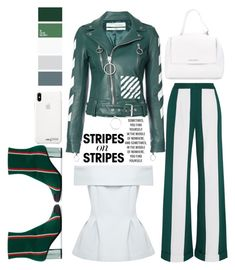 """""""Pattern Challenge: Stripes on Stripes"""" by emcf3548 ❤ liked on Polyvore featuring Monse, Marco de Vincenzo, Off-White, Orciani, stripesonstripes and PatternChallenge"""