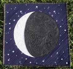 Quilts of a Feather: Paisley Moon mini quilt Owl Quilts, Star Quilts, Mini Quilts, Baby Quilts, Applique Wall Hanging, Hanging Quilts, Quilted Wall Hangings, Nancy Zieman, Tim Holtz