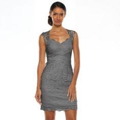 1 by 8 Tiered Lace Sheath Dress - Women's