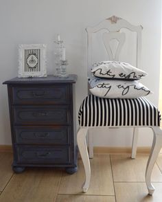 komoda i krzesło by annie sloan, old violet
