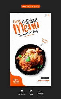 Italian Food Restaurant, Restaurant Menu Template, Restaurant Flyer, Restaurant Menu Design, Youtube Banner Design, Web Banner Design, Food Template, Banner Template, Bio Food