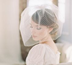 Bridal double birdcage blusher veil by EricaElizabethDesign, $175.00