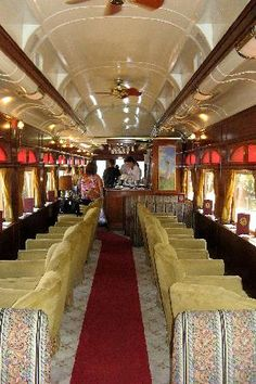 napa+wineries | California: Napa Valley Wine Train interior