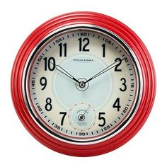 Retro kitchen wall clock, red, Target stores (not online), no clue on price, in stock at Mt. Juliet store