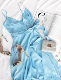 Majorca Blue Wrap Dress #lovepriceless