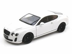 1 1/8 Scale Diecast Cars | 18 Scale Bentley Continental SuperSports Coupe White Diecast Car ...