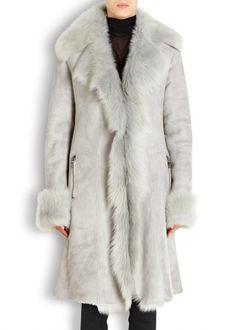 Duck egg Toscana shearling coat - Shearling & Fur Coats - Coats - All Clothing - Women