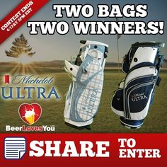 Find THIS picture on www.facebook.com/beerluvsyou and SHARE it to enter to win one of these golf bags!!     Hurry! Contest ends at 5pm EST on April 17th! GOOD LUCK!