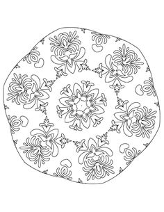 A free easy printable coloring page for grownups - add a bit of zen and fun to y. Mandala Coloring Pages, Free Coloring Pages, Printable Coloring Pages, Coloring Sheets, Trippy Drawings, Pencil Drawings, Simple Mandala, Page Design, Free Printables