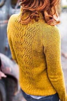 Love these colors (sweater and hair) and the composition.