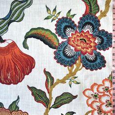 Hothouse Flower fabric-Sarah Richardson farmhouse master bedroom