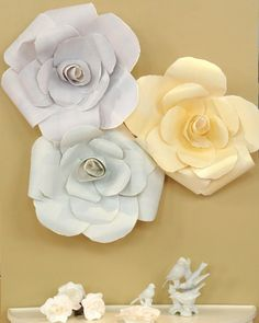 Hard flower barrettes barrette martha stewart and flower oversize paper roses mightylinksfo
