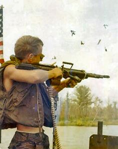 Firing an M60! ~ Vietnam War