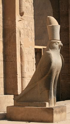 Horus, Edfu temple #egypt #egyptian #art #sculpture #horus