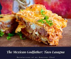 The Mexican Godfather: Taco Lasagna Oven Dishes, Pasta Dishes, Spicy Recipes, Italian Recipes, Taco Lasagna, Mexican Street Food, Tomato Relish, Food Stall, Homemade Tacos