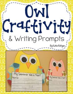Owl Craftivity with Writing Prompts - Make an adorable owl craft with this great download. You get simple templates for students to cut out plus 12 half page writing prompts. Great for back to school, the fall months, a Halloween alternative activity, or ANY time of year you want a little bit of owl fun. Click through to see how you could use this with your preschool, Kindergarten, 1st, or 2nd grade students.