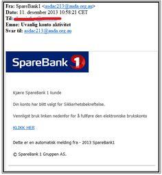 Nytt svindelforsøk på e-post - SpareBank 1 Nord-Norge
