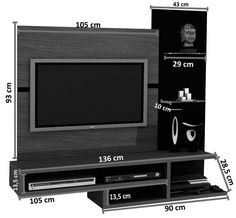40 Cool TV Stand Dimension And Designs For Your Home - Engineering Discoveries Living Room Tv Unit Designs, Wall Unit Designs, Living Room Wall Units, Tv Wall Design, H Design, Living Room Shelves, Lcd Unit Design, Lcd Panel Design, Tv Unit Decor