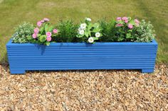 Wooden Garden Decking Trough Planter Veg Bed Flower Plant Pots In Decking Boards   eBay