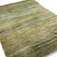 Modern Green Hand knotted Rug
