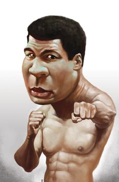 Muhammad Ali [formerly Cassius Clay] #Caricature #FunnyFaces