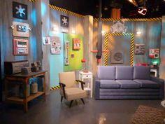 Set design for a pilot of a TV talk show