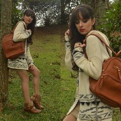 Get this look: http://lb.nu/look/8706571  More looks by Diana Schneider: http://lb.nu/elainspira  Items in this look:  Davinci Backpack, Bebecê Faux Fur Boots   #casual #romantic #fauxfurboots #fall #cozy #folk #cozyoutfit #brazil #southbrazil