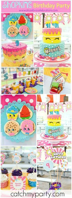 So much cuteness at this colorful Shopkins birthday party! See more party ideas at Catchmyparty.com!
