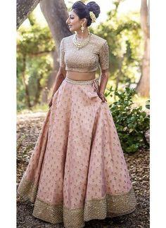 Kinas Designer Represent this Beautiful Designer Bridal Lehenga Choli in 2019 Designer Bridal Lehenga, Indian Bridal Lehenga, Indian Bridal Outfits, Pink Bridal Lehenga, Bridal Anarkali Suits, Pakistani Bridal, Latest Wedding Dresses Indian, Baby Pink Saree, Punjabi Wedding Suit