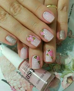 Crazy Nails, Love Nails, Do It Yourself Nails, Stamping Nail Art, Cute Nail Art, Trendy Nails, Nail Arts, Natural Nails, Diy Nails