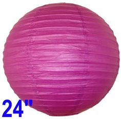 """Fuchsia Purple Chinese/Japanese Paper Lantern/Lamp 24"""" Diameter - Just Artifacts Brand by Just Artifacts. $2.89. Great for party and home decoration. Check Just Artifacts products for more available colors/sizes."""