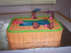 Image result for swimming party cakes