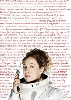 "River Song Quotes. ""It's not supposed to make that noise. YOU leave the brakes on... I had lessons from the best. It's a shame you were busy that day."""