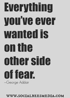 Don't let fear stop you. #quote