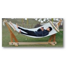 Hammock with stand Wicker Chairs, Hammock Stand, Teak Wood, Online Furniture, Outdoor Furniture, Outdoor Decor, Sun Lounger, Relax, Home Decor