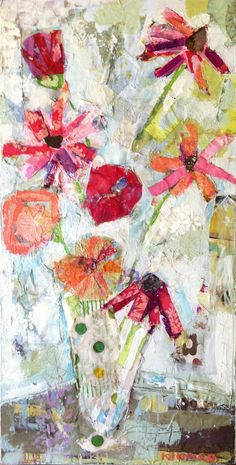 Charlie Blooms 48x24 - Mixed Media - SOLD