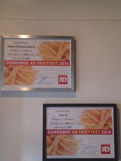 3 jaar op rij top vijf AD friettest voor de beste friet van Nederland @ Loket 13 Apeldoorn