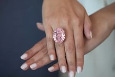 The Pink Star pink diamond ring becomes the world's most expensive diamond when it is bought by Chow Tai Fook at Sotheby's, the Hong Kong jewellery designer. Pink Diamond Ring, Black Diamond Earrings, Diamond Wedding Bands, Diamond Engagement Rings, Pink Diamonds, Rough Diamond, Pink Ring, Diamond Jewellery, Solitaire Engagement